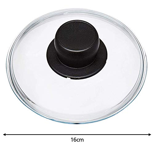 Spares2go Universal-Glasdeckel für Woks, Langzeitkocher und Kasserolen, 16 cm