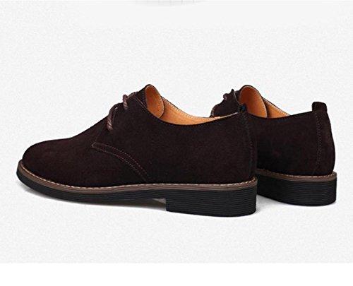 WZG Fall beiläufige Schuhe der Männer, lederne Schuhe der britischen Männer Wildlederschuhe beiläufige Schuhe des Geschäfts 9.5 Brown