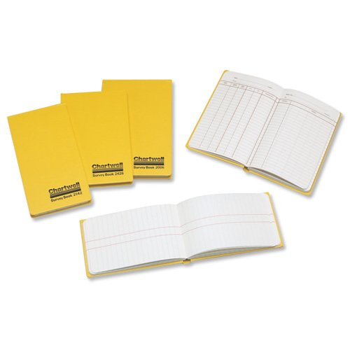 chartwell-2426z-survey-book-160-page-80-leaf-192-x-120-mm-yellow