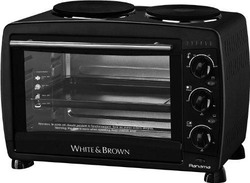 White & Brown MF286 Mini Four Noir 46 x 30,2 x 46 cm