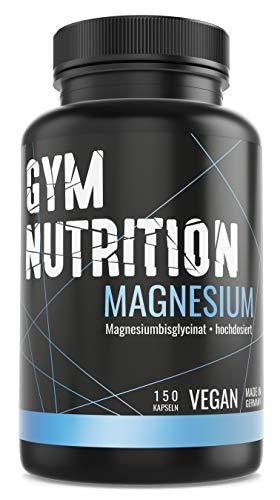 Magnesium - Hochdosiert - Laborgeprüft - Magnesium-Bisglycinat - 100mg reines Magnesium pro Kapsel ohne Zusätze - vegan - Made in Germany - 150 Kapseln