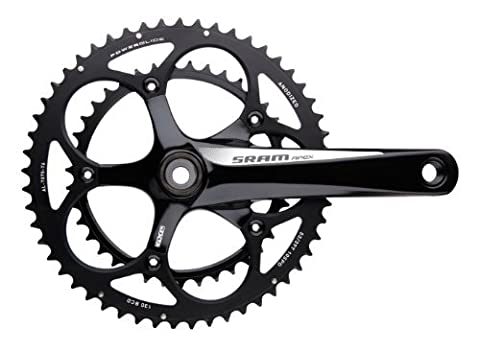 SRAM Apex Crankset 180mm White Logo 50-34 Black Rings GXP BB by SRAM