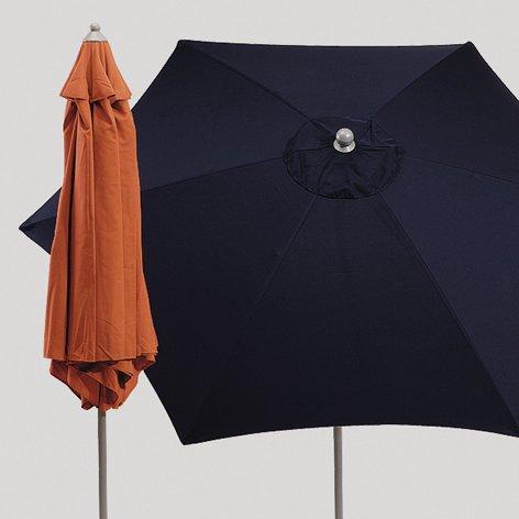 "Preisvergleich Produktbild Alu-Sonnenschirm ""Push up"", terrakotta"