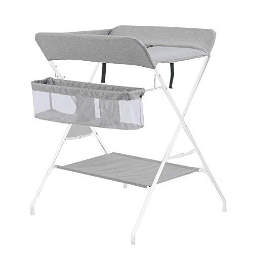 Tables à langer Table à langer portative de bébé, station de couches se pliante d'enfants avec le stockage, organisateur de pépinière en couches pour le voyage infantile (Couleur : Gray)
