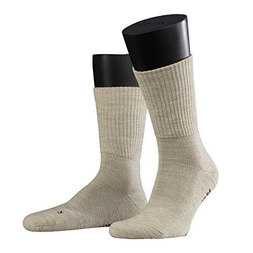 Falke Unisex Socken Walkie Light 2er Pack, Größe:42/43;Farbe:sand melange (Leichte Socken Merinowolle)
