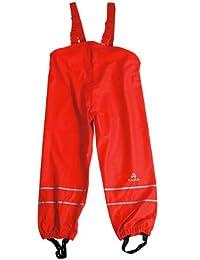 Elka - Traje para lluvia, pantalones + chaqueta para niños, diseño de rayas y colores simples, muchas tallas, 220 g/poliéster Latzhosen 92 cm