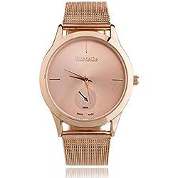 Vovotrade Aleación de reloj de la correa unisex de estilo minimalista reloj de cuarzo (C)