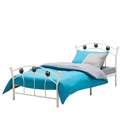 Uenjoy Metal 3ft Single Bed Frame Solid Bedstead Base With 2