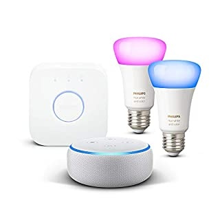 Echo Dot (3ª generazione) - Tessuto grigio chiaro + Philips Hue White and Color Ambiance Starter Kit (B07TKY78B1) | Amazon price tracker / tracking, Amazon price history charts, Amazon price watches, Amazon price drop alerts