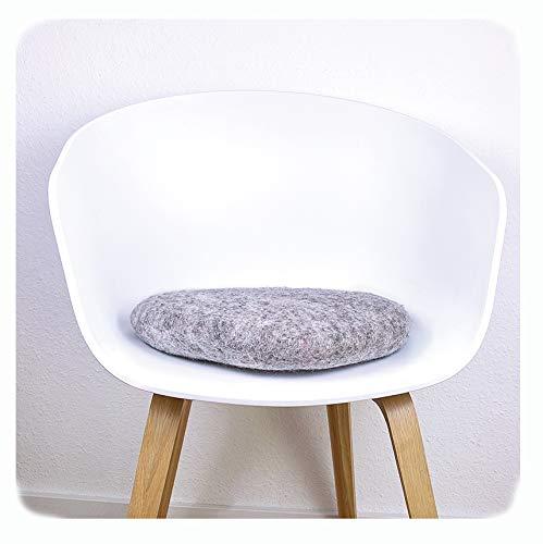 8-Natur Stuhlkissen aus 100% reinem Merinofilz für Designerstühle, Bänke und als Yogakissen...