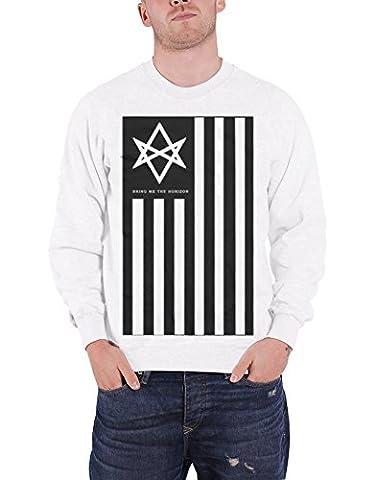 Bring Me The Horizon Sweat-Shirt Antivist Band Logo officiel Homme nouveau Blanc