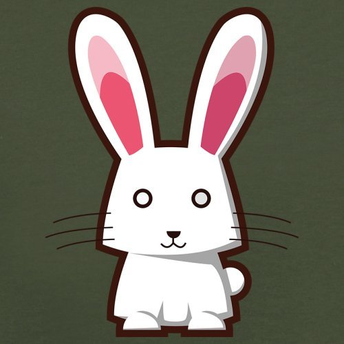 Cute Rabbit - Herren T-Shirt - 13 Farben Olivgrün