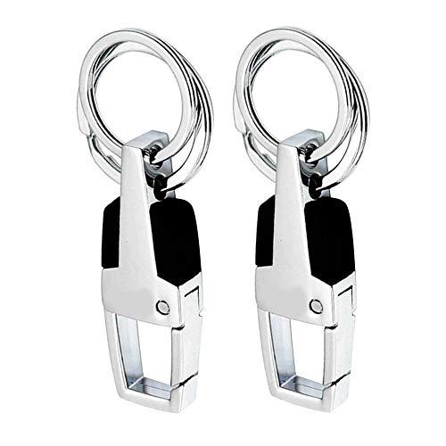 Metall Schlüsselanhänger Auto Keychain Schlüsselanhänger Halter Keyfob Clip mit 2 Extra Schlüsselanhänger Geschenk für Männer und Frauen - 2PCS