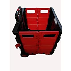 Carrito para la compra plegable (rojo/negro)