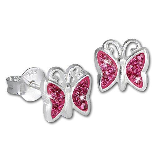 SilberDream Kinder Ohrringe Schmetterling Zirkonia rosa Ohrstecker 925er Sterling Silber SDO094A Rosa Sterling Silber Armband