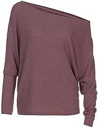 590a02662e382 Cebbay Prendas de Punto Mujer Liquidación Cuello Redondo sin Tirantes Manga  Larga Suelta suéter Superior cálido