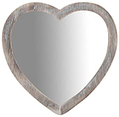 Idea Regalo - Biscottini Specchio Specchiera da Appendere 45x1,5x45 cm in Legno Finitura Legno Anticato