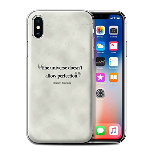 Stuff4 Gel TPU Hülle / Case für Apple iPhone X/10 / Alexander Pope Muster / Berühmte Zitate Kollektion Stephen Hawking