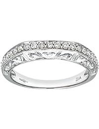 Naava Damen-Ring 9 Karat (375) Weißgold Diamant Gr. 53 (16.9) PR07960W-M