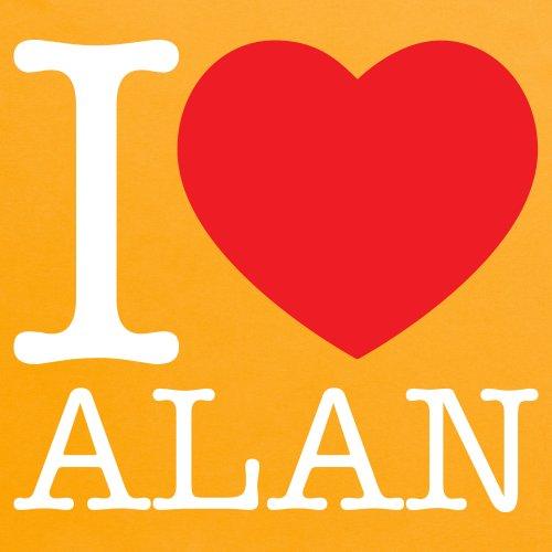 I Heart Alan T-Shirt, Herren Gelb