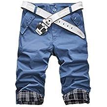 Pantalón pirata hombre mod. REVERS longitud hasta la rodilla - moda masculina - Azul oscuro, XL