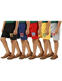 KIDDY STAR Cotton Boy's Shorts(Pack of 5,Size)