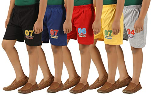 KIDDY STAR Cotton Boy's Shorts(Pack of 5,Size_10-Year)