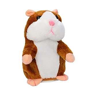 AOOPOO Cute Mimicry Pet Talking Hamster Repeats What You Say Plush Animal Toy Plush Buddy Mouse for Boy and Girl Gift