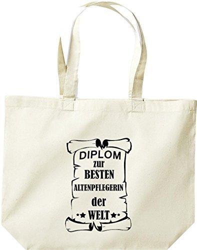 Shirtstown große Einkaufstasche, Diplom zur besten Altenpflegerin der Welt, Natur
