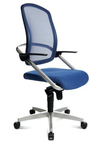 Topstar Bürodrehstuhl S Move op 10 blau - Doppelrollen-Set für Teppichböden thumbnail