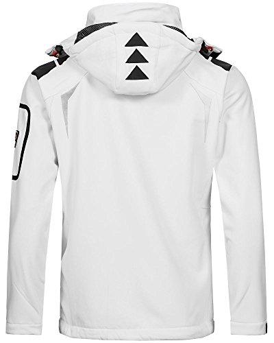 Geographical Norway Herren Softshell Funktions Outdoor Jacke wasserabweisend White