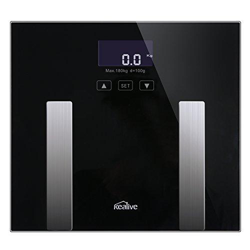 Elektronische Körperfett Mensur, kealive Präzise Körperfett-Prüfgerät und Monitor für Haushalt Mess-, 400Pfund, Überwachung Body Mass Index