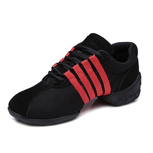 Fitness Hroyl Scarpe Sport T01 Rosso Modello Jazz Moderne Ballo Uomo Sneaker Da Donna Nero HrzHq1