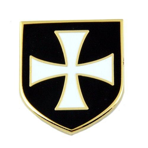 Patch Nation Ritter Templer Crusader Weiß Kreuz Schwarz Schild Anstecknadel Abzeichen