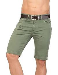 Shorts pour hommes TAVIK - vert JSM275 vert par GEAR 100% coton Denim