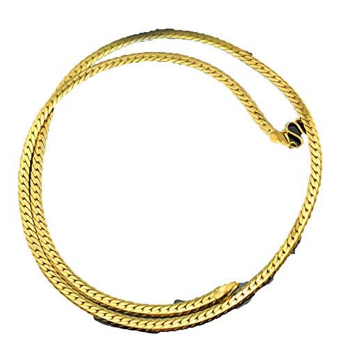 2da15d12375 KTT 11mm 24k Thai Gold Gold GP Filled Collar Cadena clavicular The Look &  Feel of Solid Gold Cuerda Cadena para Hombres