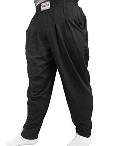 Muscle Alive Uomo Pantaloni Palestra Larghi di Culturismo Allenarsi Fitness Cotone e Spandex