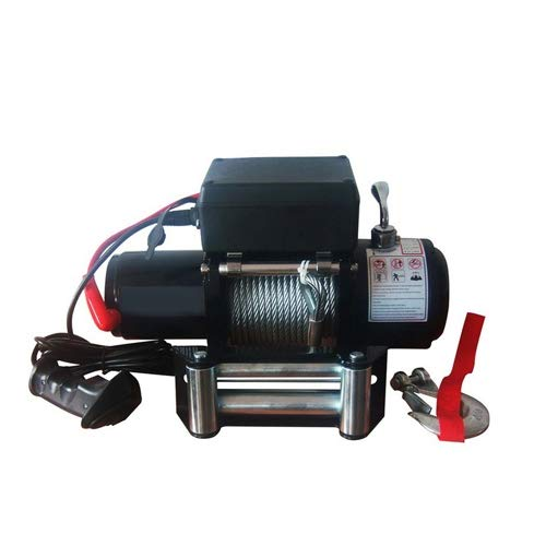 Wotefusi 6000LB Pound Elektrische Seilwinde 12V DC Universal-Volt Stahlseil Abschlepp