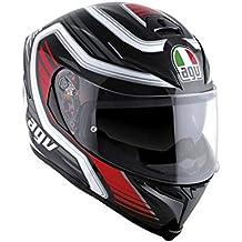 AGV - Casco de moto K-5 S E2205 Multi PLK, Firerace Black/