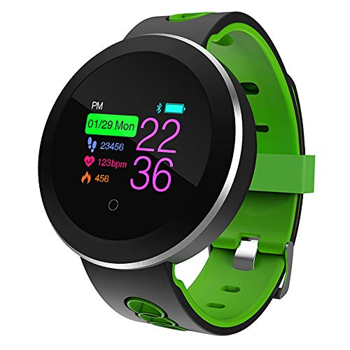 NINGSANJIN Q8 Smartwatch Fitness Armband | IP68 wasserdichte Smart Watch Puls Blutdruck Schlaf Monitor Farb-Bildschirm Smart Armband Für Android IOS (Grün)
