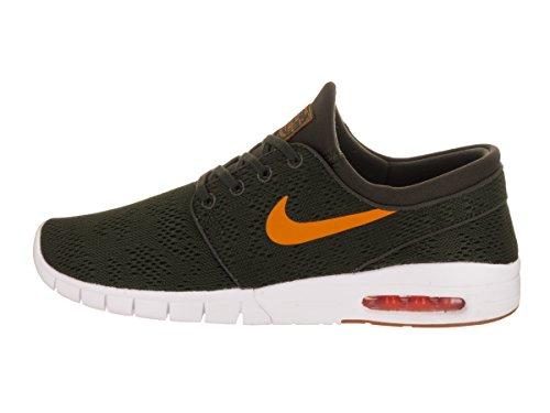 Nike Damen Tank Top Air Max Logo Dunkelgrün (Sequoia/Gum Light Brown/Circuit Orange)