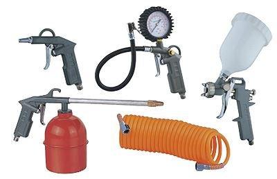 5piezas de accesorios de Kit de compresor de aire pistola de pulverización línea de aire manguera de aire de herramientas nuevo