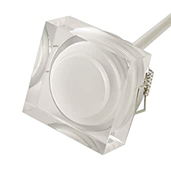 Spot LED encastrable 1W cristal Blanc Neutre (4100K) Carre