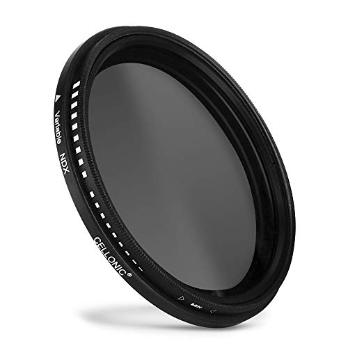Cellonic® Einstellbarer Neutraldichte Filter ND2-400 für Ø 37mm Graufilter, Langzeitbelichtung