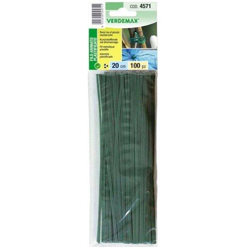Verdemax 4751 Cored fil en plastique 20 cm (Lot de 100)