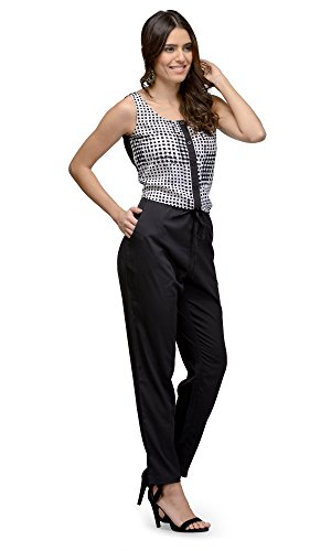 The-Gud-Look-Womens-White-Black-Checkered-Jumpsuit