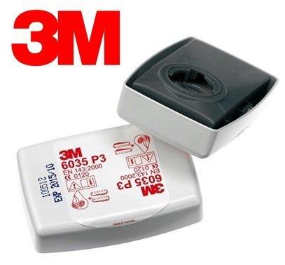 2-Teilig Filter für Stäube 3M Artikel-Nr.6035 P3 P2 für Maske-Serien 6000 und 7000 (P2-serie)