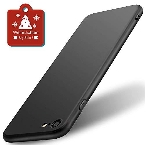wsiiroon Hülle für iPhone 6 6S, Handyhülle für iPhone 6 6S Ultra - Dünn Soft Flex Silikon Schutzhülle-Anti-Rutsch, Anti-Scratch TPU Case für iPhone 6 6S 4.7 Zoll (Schwarz)