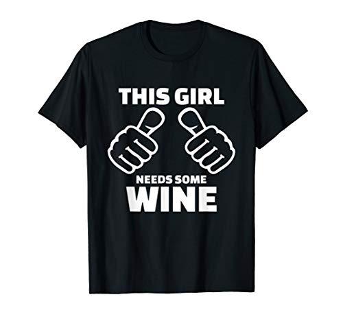 Wein-grünes T-shirt (Dieses Mädchen braucht Wein T-Shirt)
