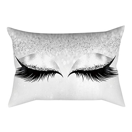 Mitlfuny Black Friay DE Cyber Monday DE, Eyelash Out Soft Velvet Cushion Cover 30x50cm Marble Pillow ()